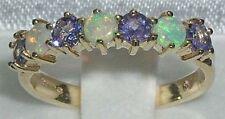Echte Edelstein-Ringe aus Gelbgold mit Tansanit für Damen