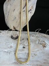 """24"""" (60cm) HEAVY SNAKE CHAIN FOR MI MILANO KEEPER/COIN/MONEDA NECKLACE/PENDANT"""
