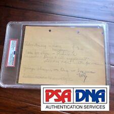 Thomas Edison * Psa/Dna Slab * Autograph Handwritten Note Signed *