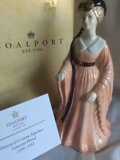 "BNIB COALPORT  EXTREMELY RARE ""HISTORY OF COSTUME FIGURINES  LANCASTER LED 500"
