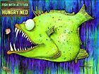 """NFT Art: FISH WITH ATTITUDE collection by Mike Quinn - """"Hungry Ned"""" series 1/30"""