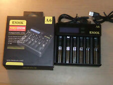 Enook A6 fast USB Li-Ion Battery Charger for 18650 20700 21700 26650 18500 18350