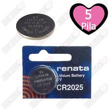 Renata Batteria CR2025 Litio 3V Pulsante Batteria Cr 2025 Pile A Bottone X5
