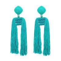 Bohemia Drop Dangle Ear Stud for Women Tassel Vintage Ethnic Statement Earrings
