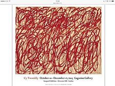 Cy Twombly Bacchus Poster Original Exhibition Print 29 5/8 x 26 3/4 SOLD OUT!!