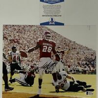 Autographed/Signed ADRIAN PETERSON Oklahoma Sooners 8x10 Photo Beckett COA #2