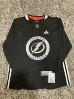Adidas NHL Tampa Bay Lightning Authentic Practice Jersey Black Sz 50 NWT Bolts