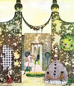 Original Vintage Kay Nielsen Art Deco Nouveau Print 1979 In Powder and Crinoline