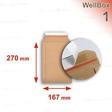 100 Enveloppes carton rigide renforcé 176x270 Wellbox 1