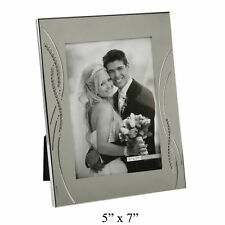 Personalised Engraved Silver Plated Crystal Reed Photo Frame Photo Frame 5x7""