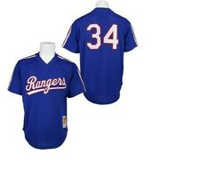Authentic Mitchell & Ness Texas Rangers #34 Baseball Jersey New Mens $90
