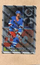 brian leetch new york rangers 1996/97 leaf steel 23