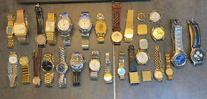 LOT of 30 SEIKO / PULSAR Quartz Watches FOR PARTS OR REPAIR