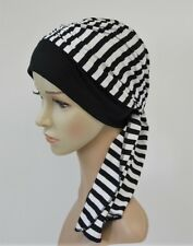 Turban with ties, chemo headwear, full head covering, tichel, head snood
