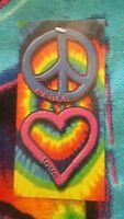 Peace and Love Beach Bath Towel 30x60 Velour 100% Cotton
