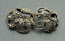 Women's Marcasite Sterling Silver Brooch Fine Vintage Collectable Jewellery