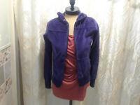 NEW SoHo Lady New York Navy Blue Velour Hooded Jacket Womens S NWT Closet26