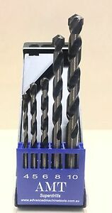 Carbide DRILL  SET FOR DRILLING HARDENED STEEL CONTAINS 4,5,6,8,10mm drills