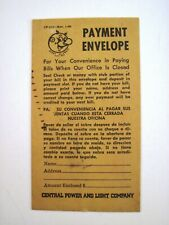 """1960 Pay Envelope for """"Reddy Kilowatt"""" To Pay Your Electric Bill - Unused *"""