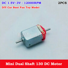 2PCS DC 1.5V-6V 3V 12000RPM Double Shaft Micro 130 DC Motor DIY RC Car Toy Boat