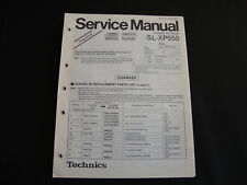 ORIGINALI service manual TECHNICS sl-xp550