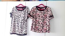 SIZE 12 NEXT TOP BUNDLE NEON PINK GREY IVORY BLACK FLORAL STRETCH TUNIC T-SHIRT