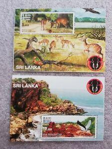 Sri Lankan Wilpattuwa National Park 2 Miniature Sheets Sg:LKMS1766a-Sg:LKMS1766b