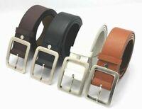 Dress Leather Belts Men's Belt Buckle Waist Strap Genuine Casual Waistband Pin