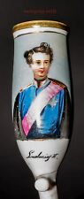 Ludwig II, handbemalter Pfeifenkopf aus Porzellan um 1865