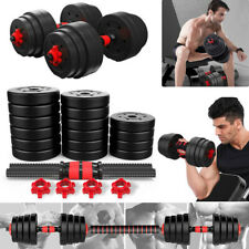 22/88/110 LBS 1 Pair Adjustable Dumbbell Set Combination Barbell Non-slip Hand
