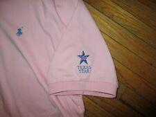 vtg TEXAS STAR PINK POLO BY RALPH LAUREN SHIRT Euless Golf Course Classic 2X XXL