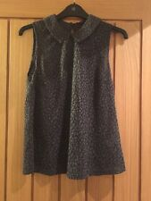 Atmosphere Grey Floral Sleeveless Top, Size 10, New with Tags