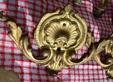 Antique Cast Brass Curtain Rod Adornments (4 x Centrepieces)  & (8 x Finials)