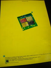 FLYING LIZARDS say I THINK YOU'RE VERY.... bold yellow 1980 PROMO POSTER AD mint