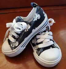Koala Kids Toddler Size 5 Skulls Black Sneakers Chucks Style Shoes