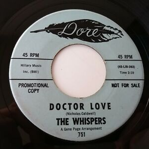 """The Whispers - Doctor Love - 7"""" Vinyl Single Rare Promo Demo Northern Soul"""