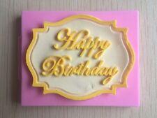Happy Birthday Impression Mat Baking Mold Silicone Mould Cake Decorating UK