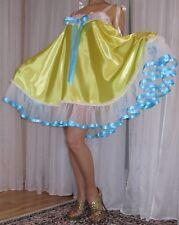 VTG Lingerie Silky Satin Nylon Slip FULL Sweep Negligee Babydoll Nightgown XL-3X
