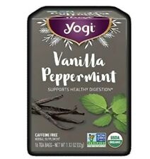 Yogi Limited Release Seasonal VANILLA PEPPERMINT Tea (16 ct)