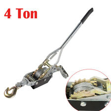 4Ton 8000lb Hand Puller Cable Puller Pulling W/Hook Winch Hoist Ratcheting Easy