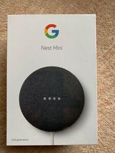 NEW Google Nest Mini (2nd Generation) Smart Speaker - Charcoal, Unopened/Sealed
