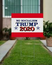No Socialism Vote Trump 2020 Yard Sign, President Voting Sign, Political Sign