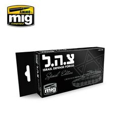 Ammo by Mig Acrylic Colours Paint Set - Israel Defense Forces SE A.MIG-7163