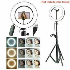 "10"" LED Selfie Ring Light with Tripod Stand Phone Holder For Makeup Best H3E3"