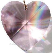 8781-40mm Swarovski Heart Lt Rose Pink Crystal Pendant w Logo 1.5 inch