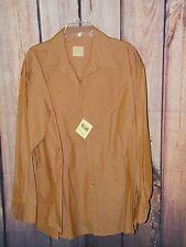 Stubbs Western Wear Long Sleeve Shirt NWT Burnt Amber Collar No Buttons Size XL