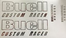 Buell Custom Racer 1000cc Thunderstorm decals. Chrome . Or Choose your Color.