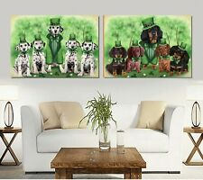 St. Patrick's Day canvas Wall Art Decor, Dogs, Cats, Pet photo canvas