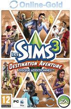 Les Sims 3 - Destination Aventure extension Clé - EA Origin Carte - PC Jeu - FR