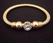 Farbe Gold Armband Kugeln großer Ø 9 mm Kristall Strass dehnbar Spiralband NEU